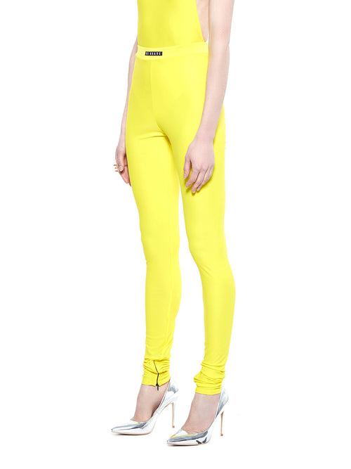 barbara bologna bright yellow be brave leggings - 2