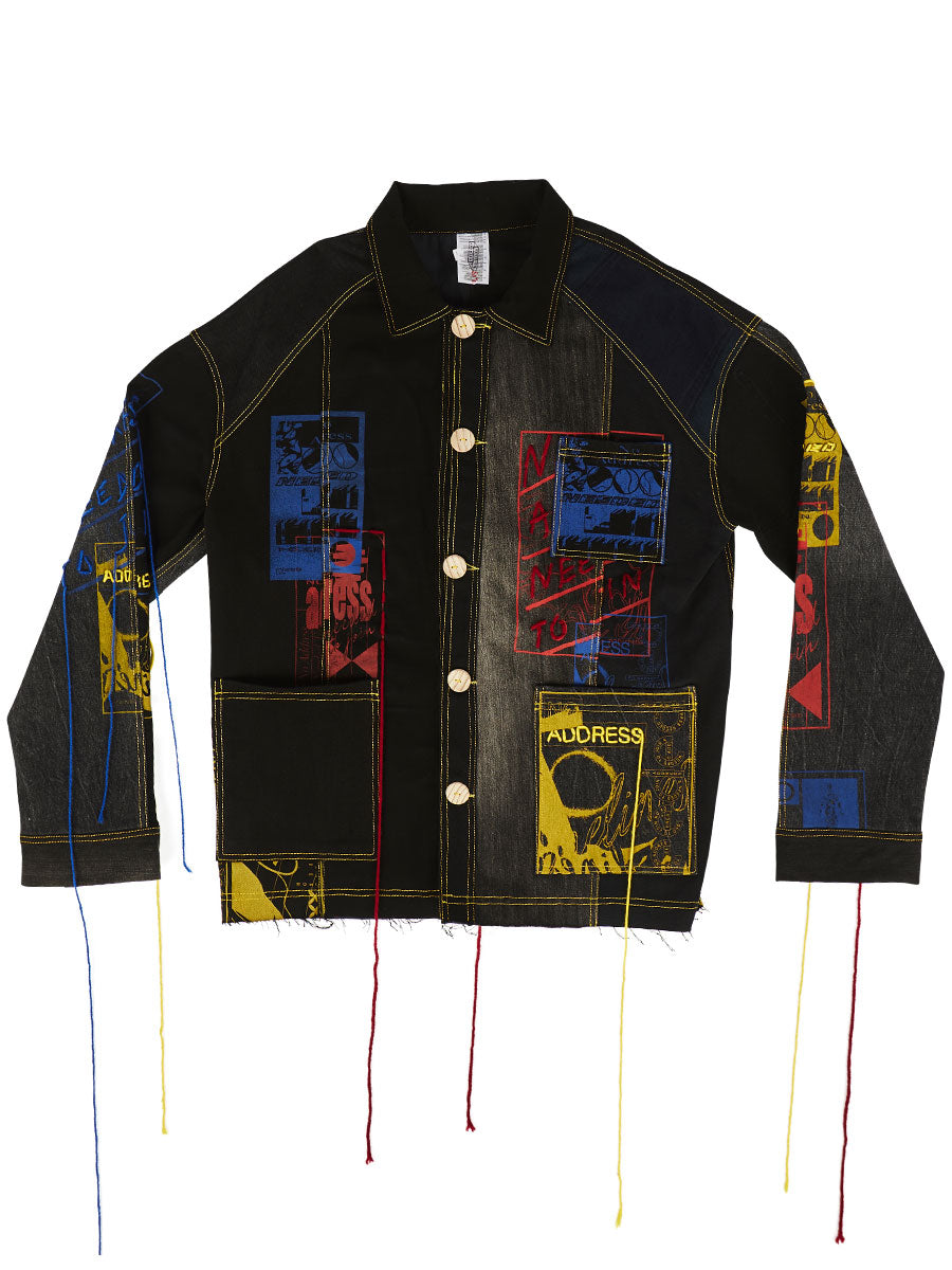 odd92 Bethany Williams Hachette Denim Jacket Spring/Summer 2019 Menswear - 1