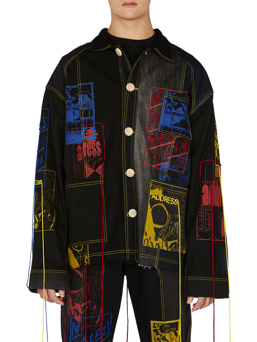 odd92 Bethany Williams Hachette Denim Jacket Spring/Summer 2019 Menswear - 2