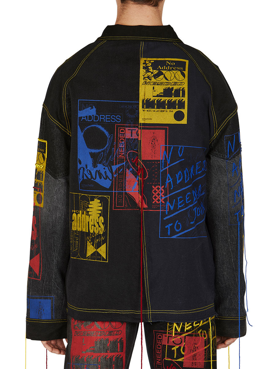 odd92 Bethany Williams Hachette Denim Jacket Spring/Summer 2019 Menswear - 3
