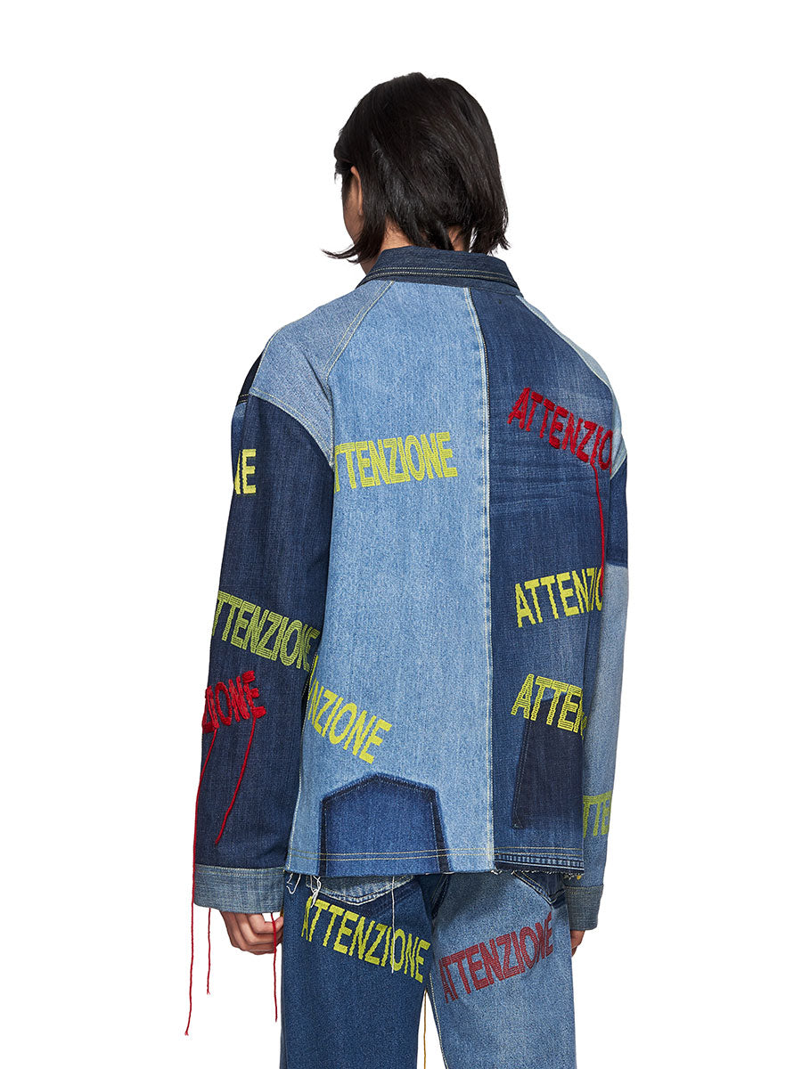 Bethany Williams Attenzione Denim Jacket - 4