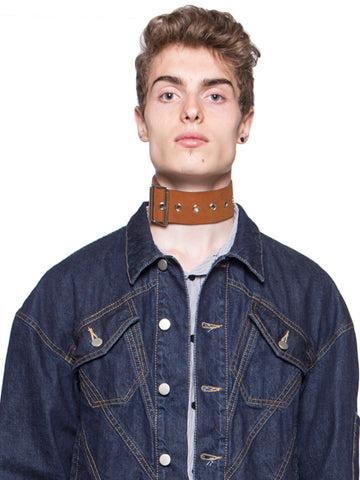 Synthetic Leather Neck Belt