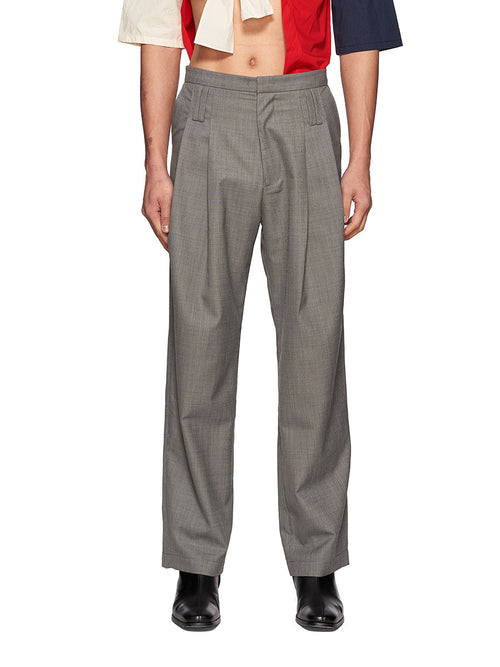 Chin Mens Grey Belt Loops Trousers - 1