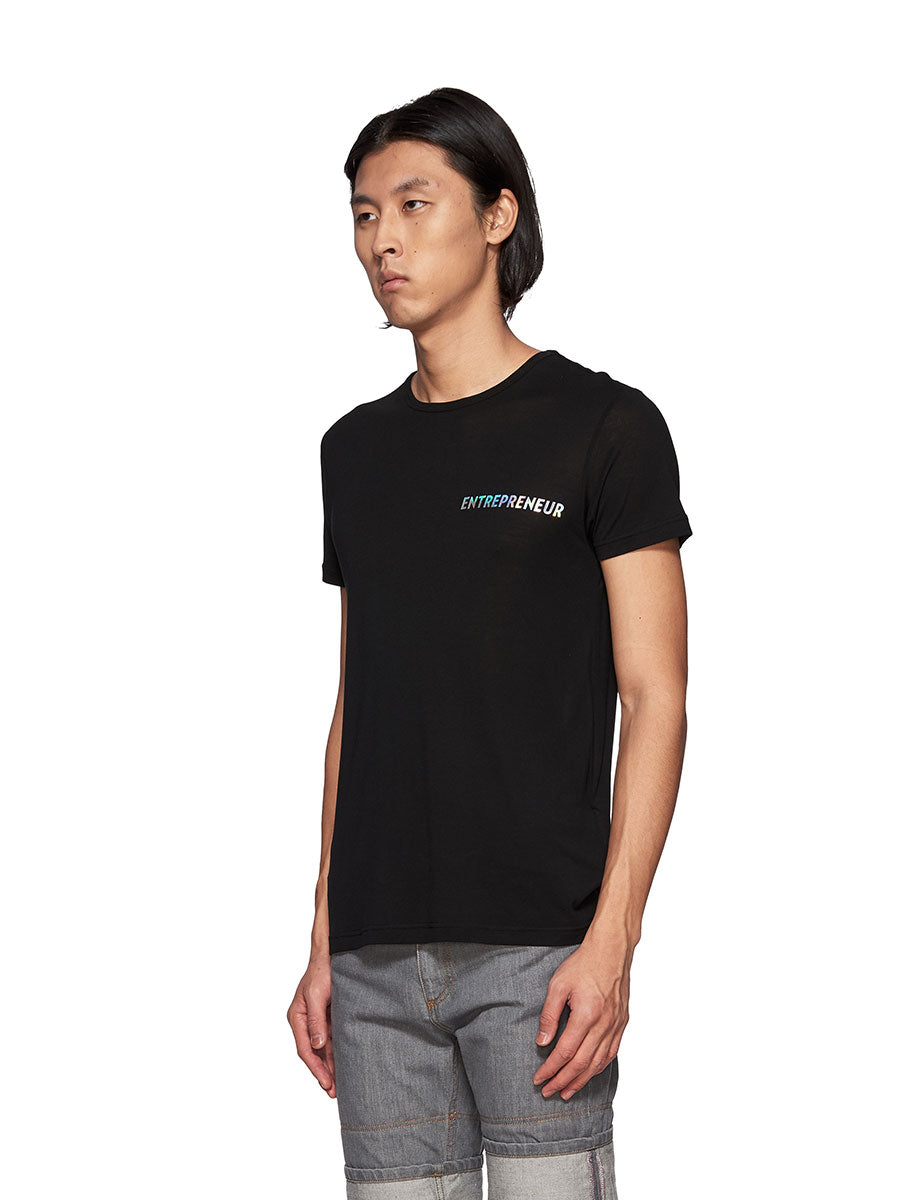 Chin Mens Black Entrepreneur Graphic T-Shirt - 3