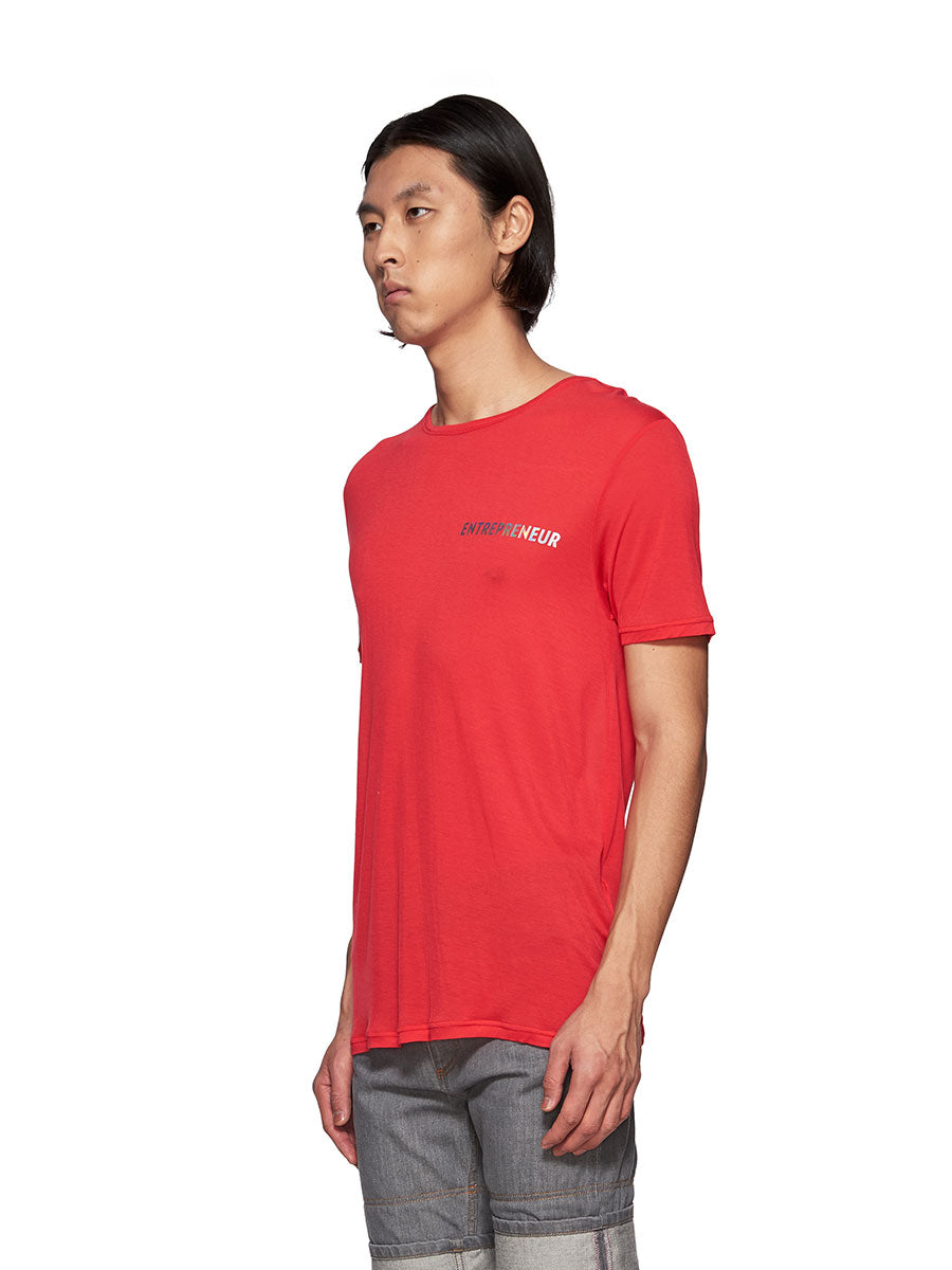 Chin Mens Red Entrepreneur Graphic T-Shirt - 3