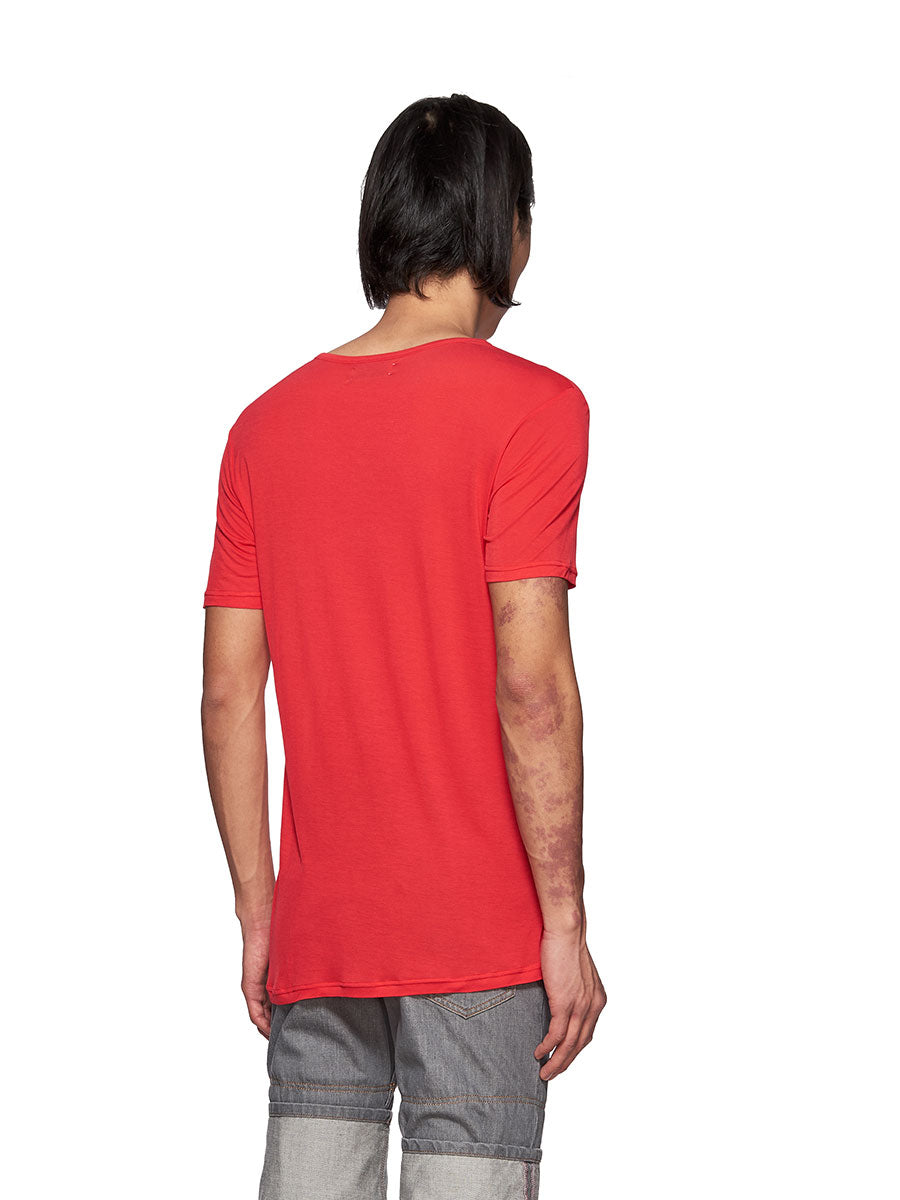 Chin Mens Red Entrepreneur Graphic T-Shirt - 4