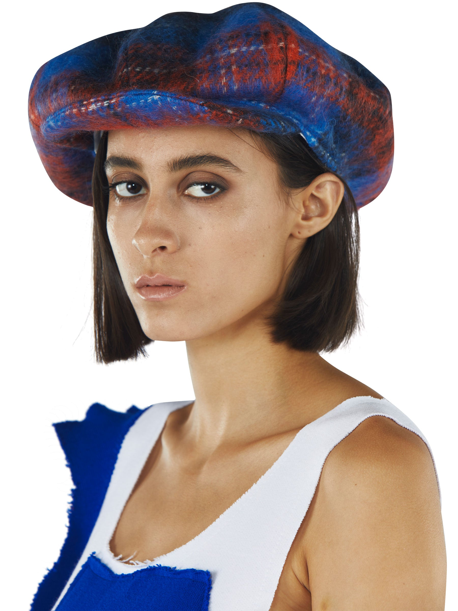 odd92 Charles Jeffrey Loverboy Fall/Winter 2019 Tartan Flat Cap - 2