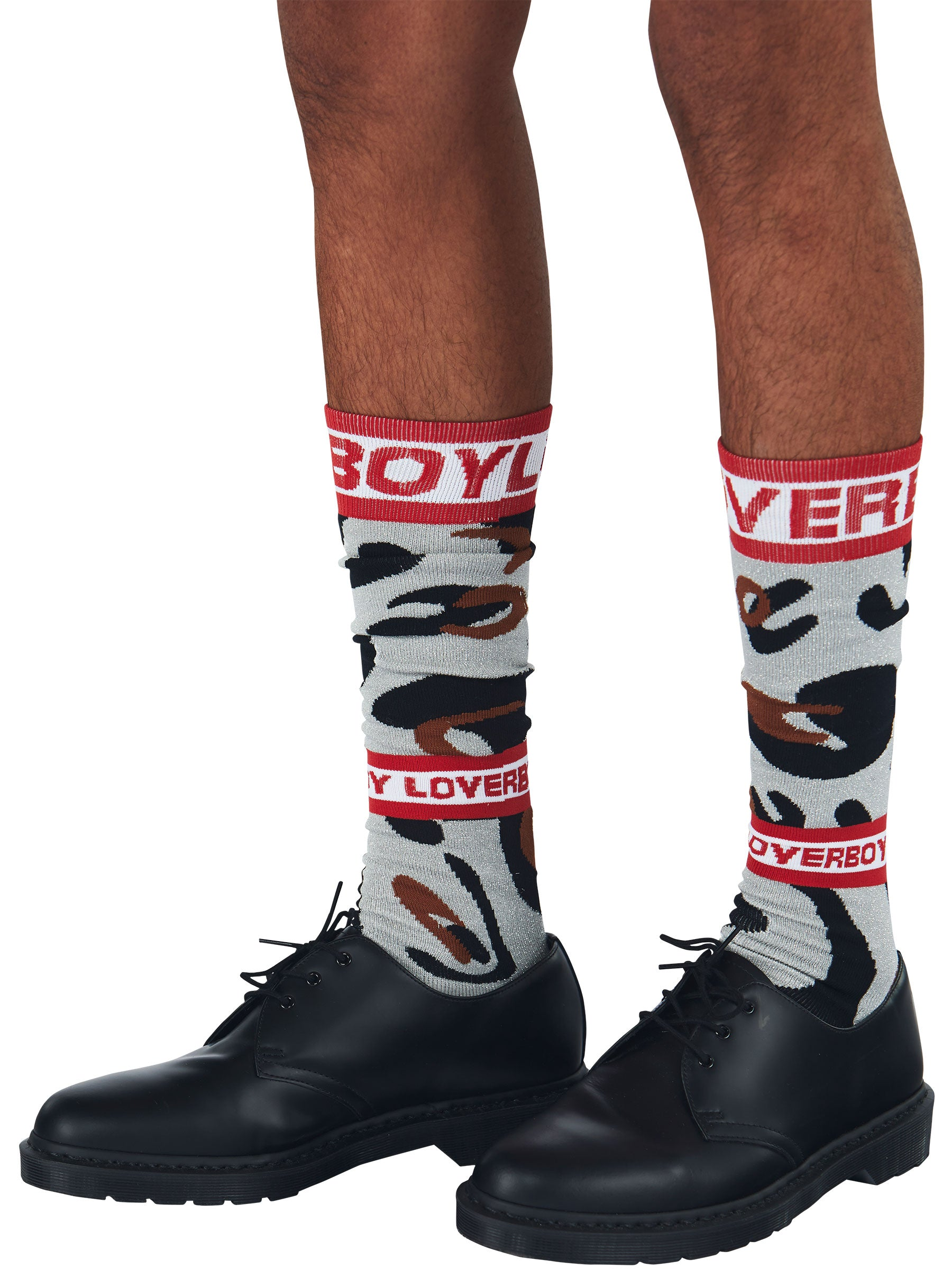 odd92 Charles Jeffrey Loverboy Fall/Winter 2019 Lurex Monster Socks - 2