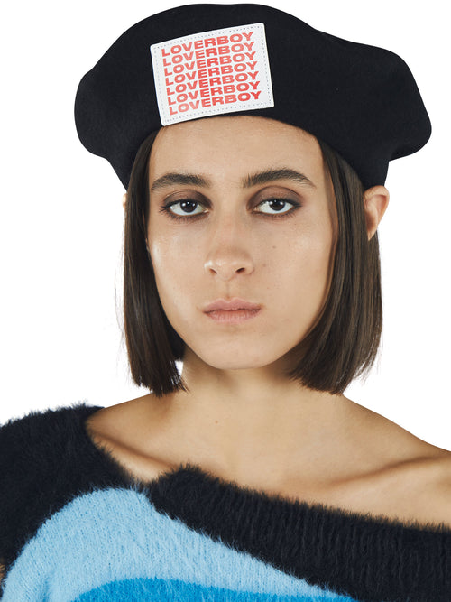 odd92 Charles Jeffrey Loverboy Fall/Winter 2019 Unisex Accessories Loverboy Patch Beret - 2