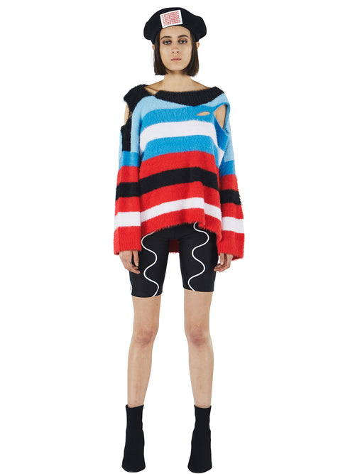 odd92 Charles Jeffrey Loverboy Fall/Winter 2019 Unisex Knitwear Wild Things Sweater - 2