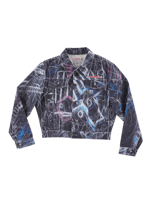 odd92 Charles Jeffrey Loverboy Spring/Summer 2019 Denim Chalk Madness Jacket - 1