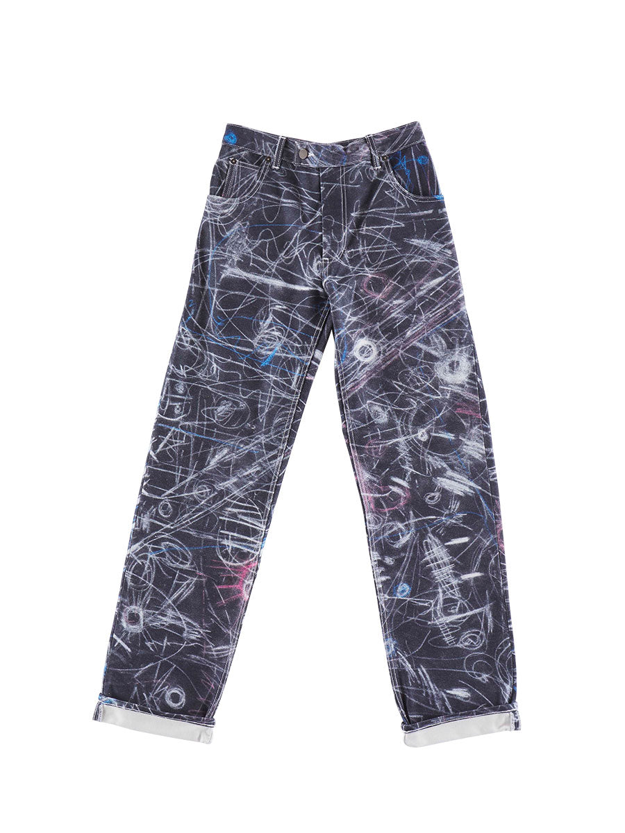 odd92 Charles Jeffrey Loverboy Spring/Summer 2019 Chalk Madness Jeans - 1