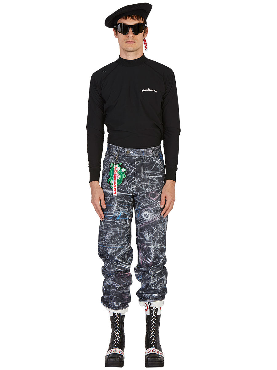 odd92 Charles Jeffrey Loverboy Spring/Summer 2019 Chalk Madness Jeans - 3