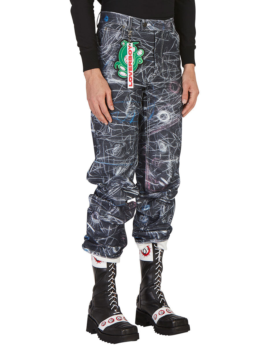 odd92 Charles Jeffrey Loverboy Spring/Summer 2019 Chalk Madness Jeans - 4