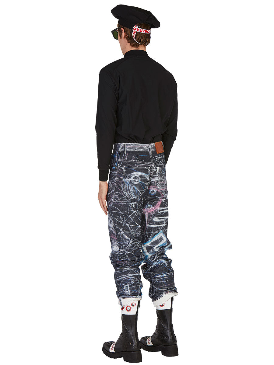 odd92 Charles Jeffrey Loverboy Spring/Summer 2019 Chalk Madness Jeans - 5