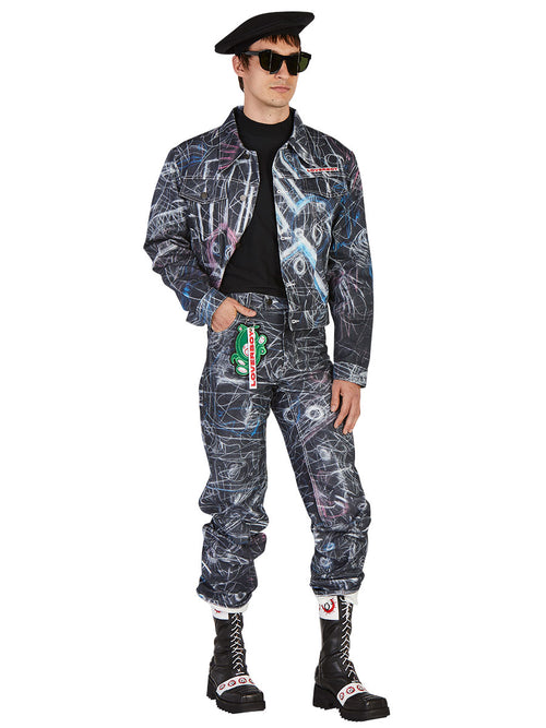 odd92 Charles Jeffrey Loverboy Spring/Summer 2019 Denim Chalk Madness Jacket - 2
