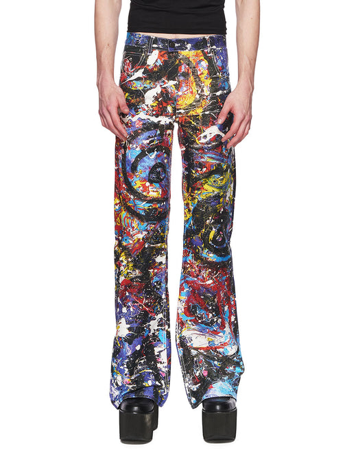 Charles Jeffrey Loverboy Painted Golden Jeans FW18 - 1