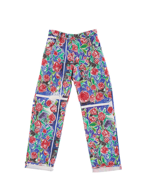odd92 Charles Jeffrey Loverboy Spring/Summer 2019 Scribble Rose Pants - 1