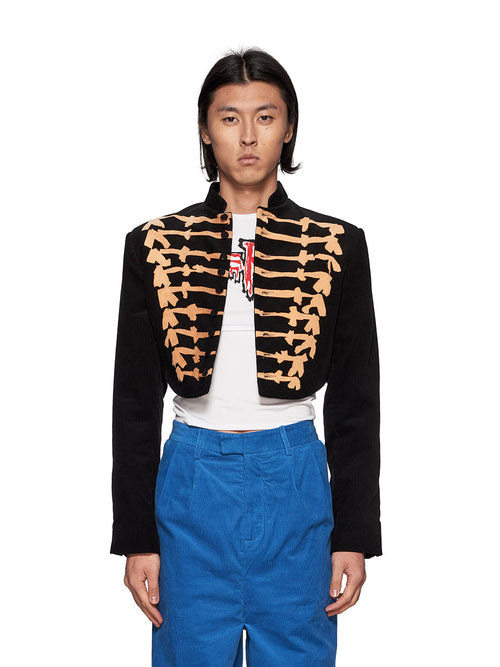 Charles Jeffrey Loverboy Bleachyfrogo Cropped Jacket - 1