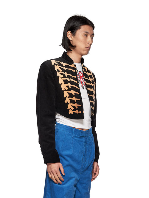 Charles Jeffrey Loverboy Bleachyfrogo Cropped Jacket - 2