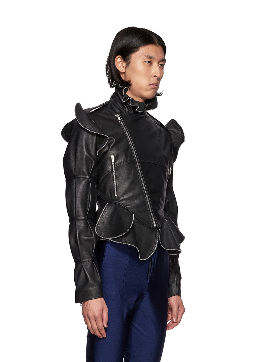 Charles Jeffrey Loverboy Burtha Leather Biker Jacket - 3