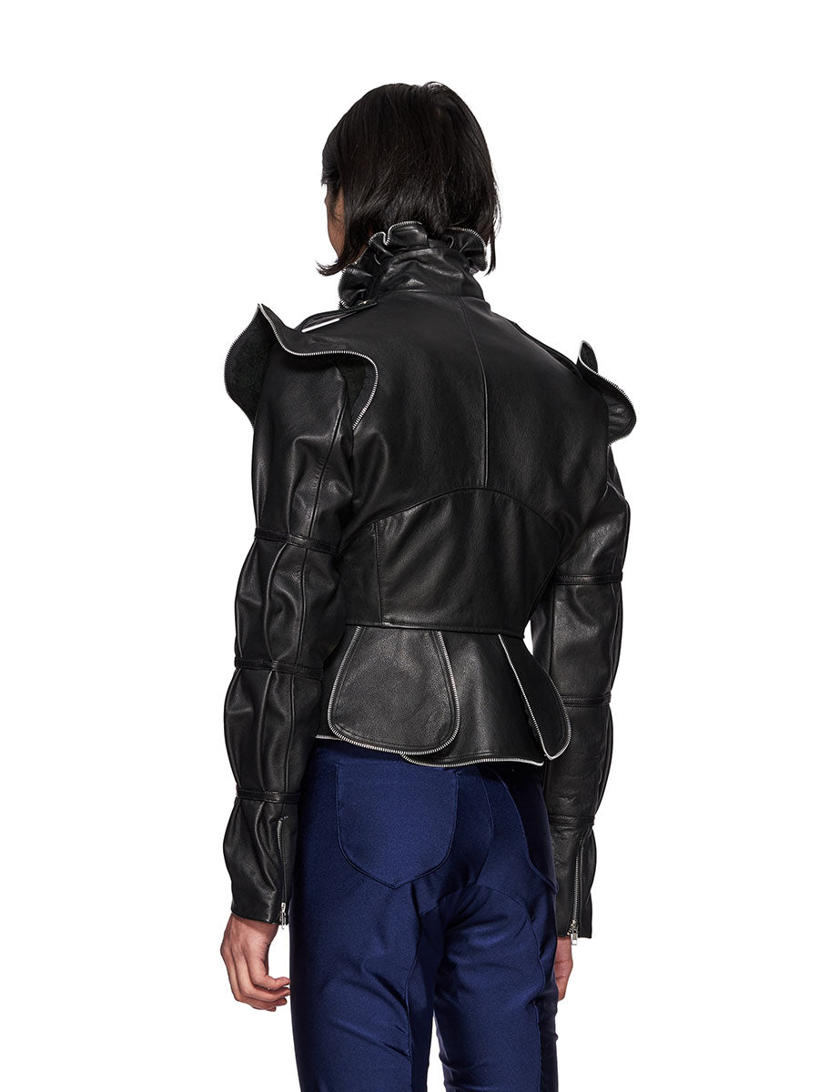 Charles Jeffrey Loverboy Burtha Leather Biker Jacket - 4
