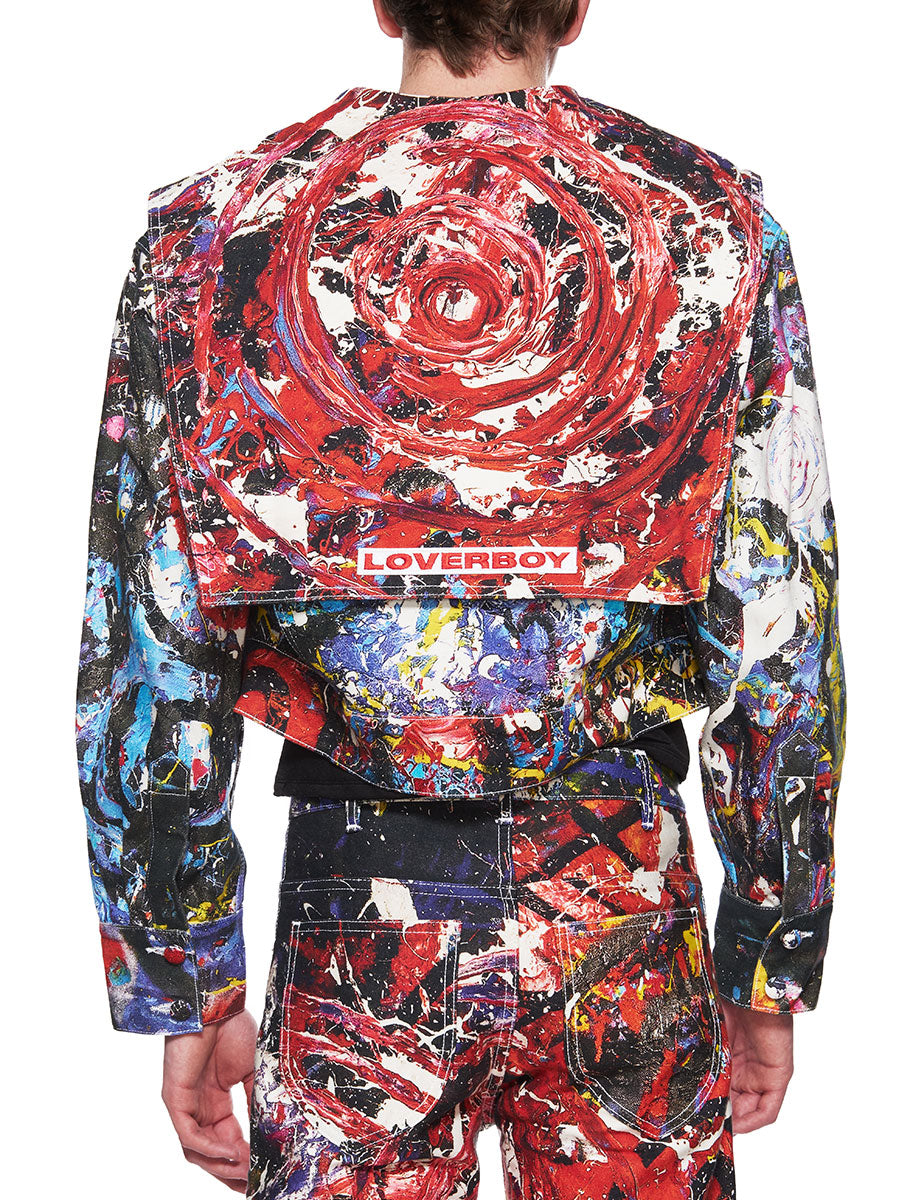 Charles Jeffrey Loverboy C-Back Painted Denim Jacket - 3