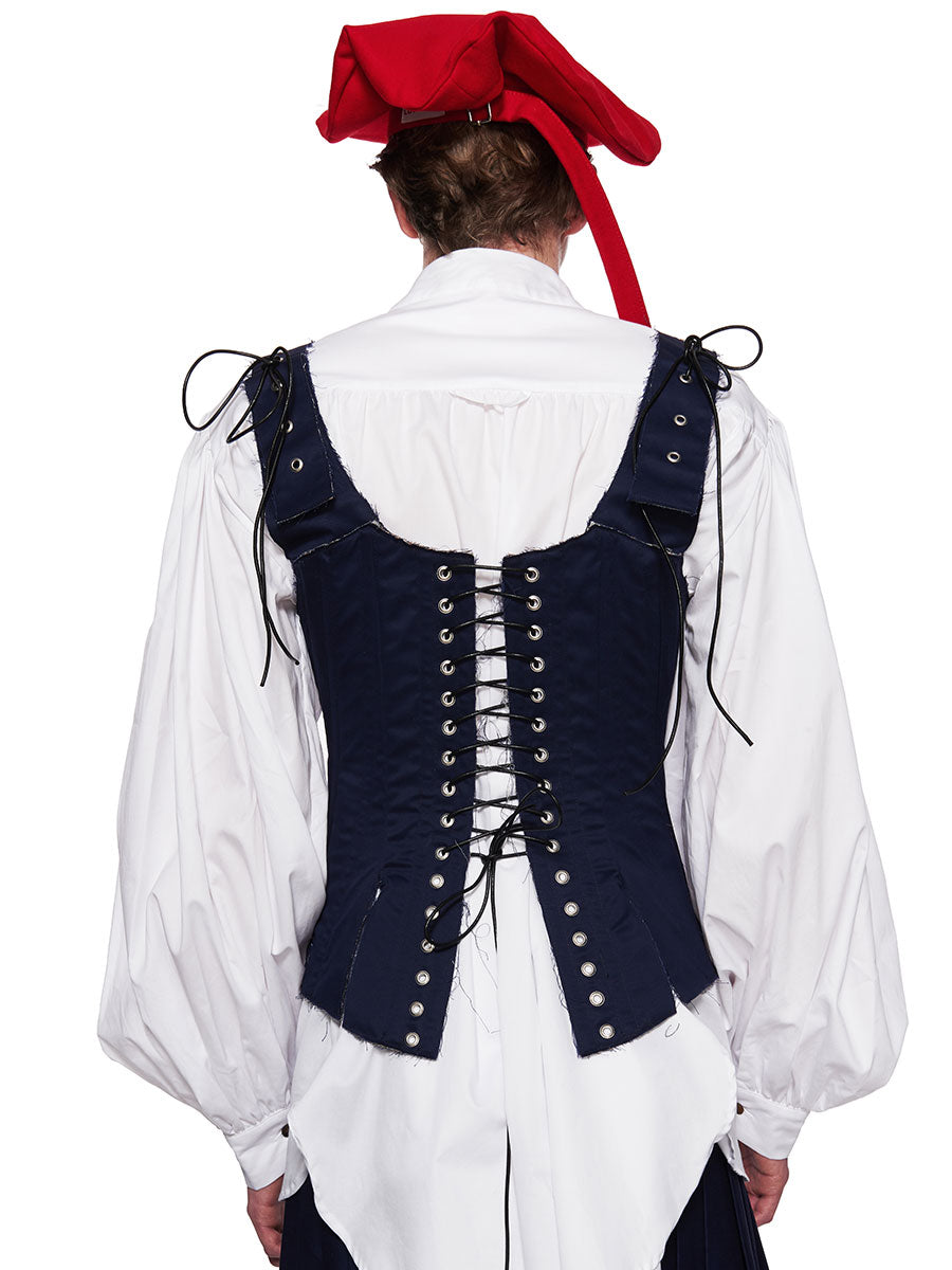 Charles Jeffrey Loverboy Navy Blue Happy Chappy Corset - 4