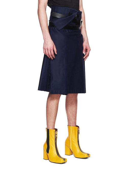 Charles Jeffrey Loverboy Navy Blue Wraparound Kilt FW18 - 2