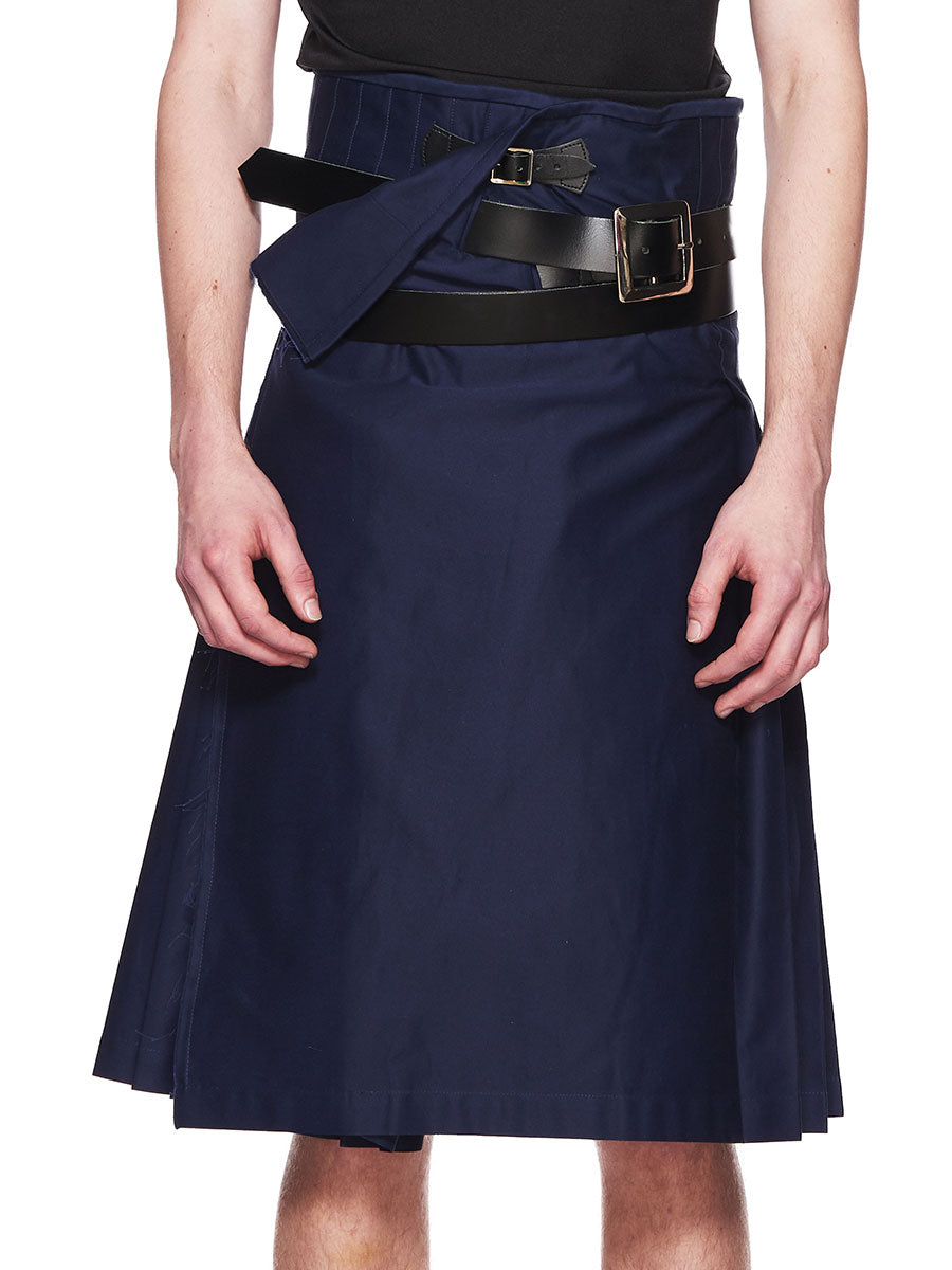 Charles Jeffrey Loverboy Navy Blue Wraparound Kilt FW18 - 5