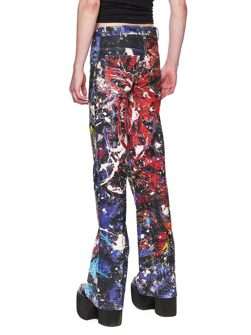Charles Jeffrey Loverboy Painted Golden Jeans FW18 - 2