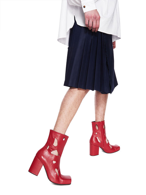 Charles Jeffrey Loverboy x Roker Atelier Red Holes Jasc Boot FW18 - 1
