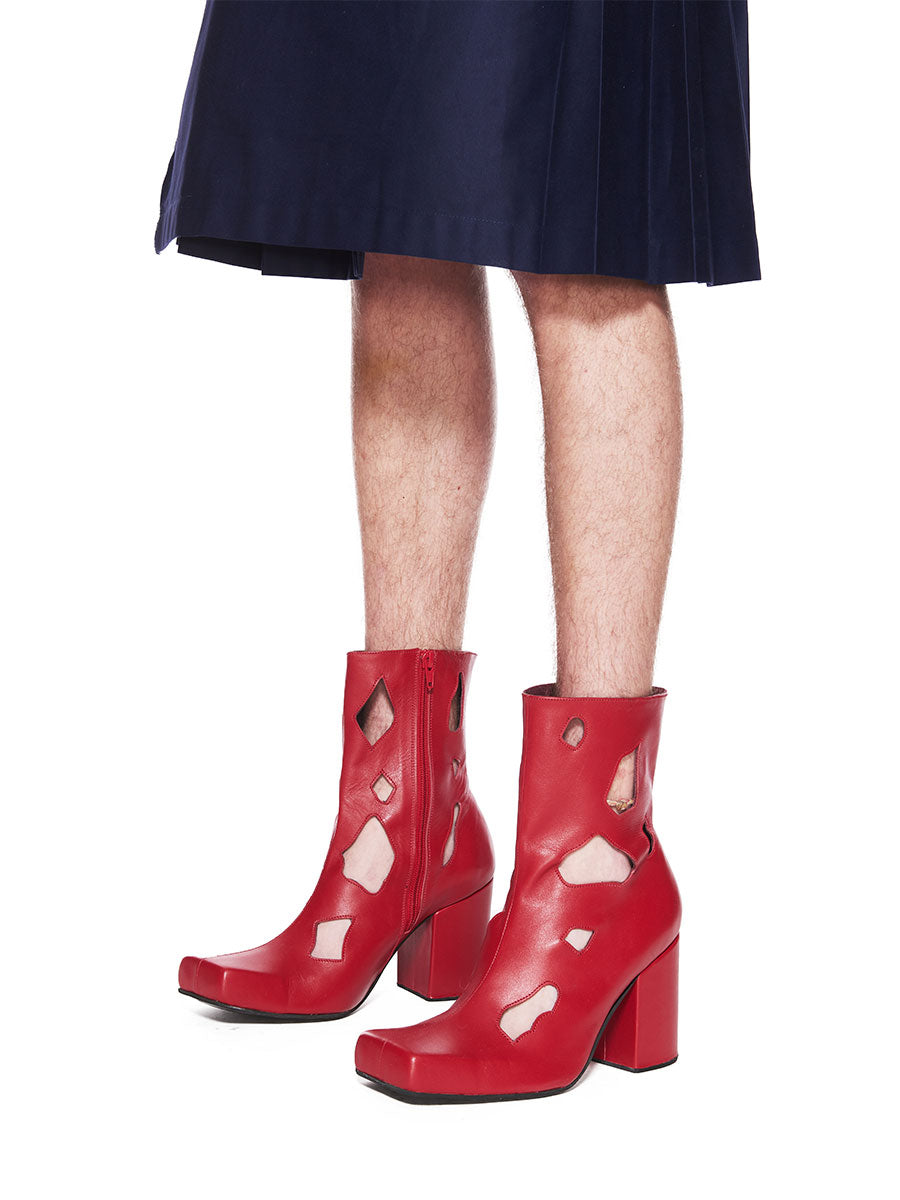 Charles Jeffrey Loverboy x Roker Atelier Red Holes Jasc Boot FW18 - 2