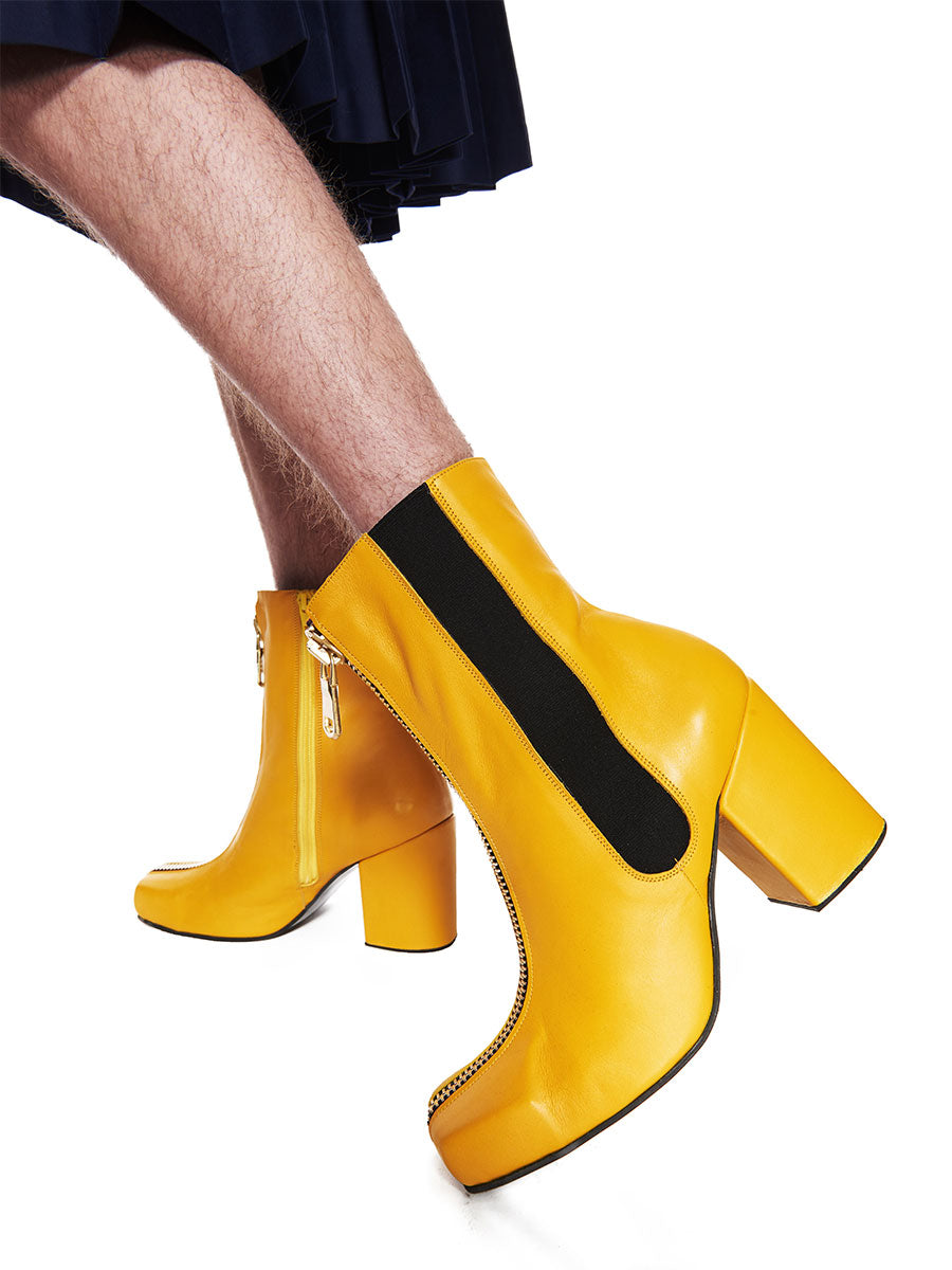 Charles Jeffrey Loverboy x Roker Atelier Yellow Zipped Jasc Boot FW18 - 5