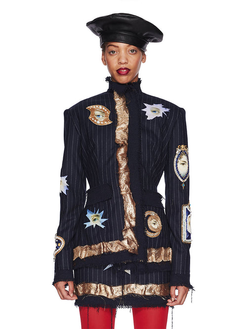 Dilara Findikoglu Fall/Winter 2018 Womenswear All Seeing Eye Jacket odd92 - 1