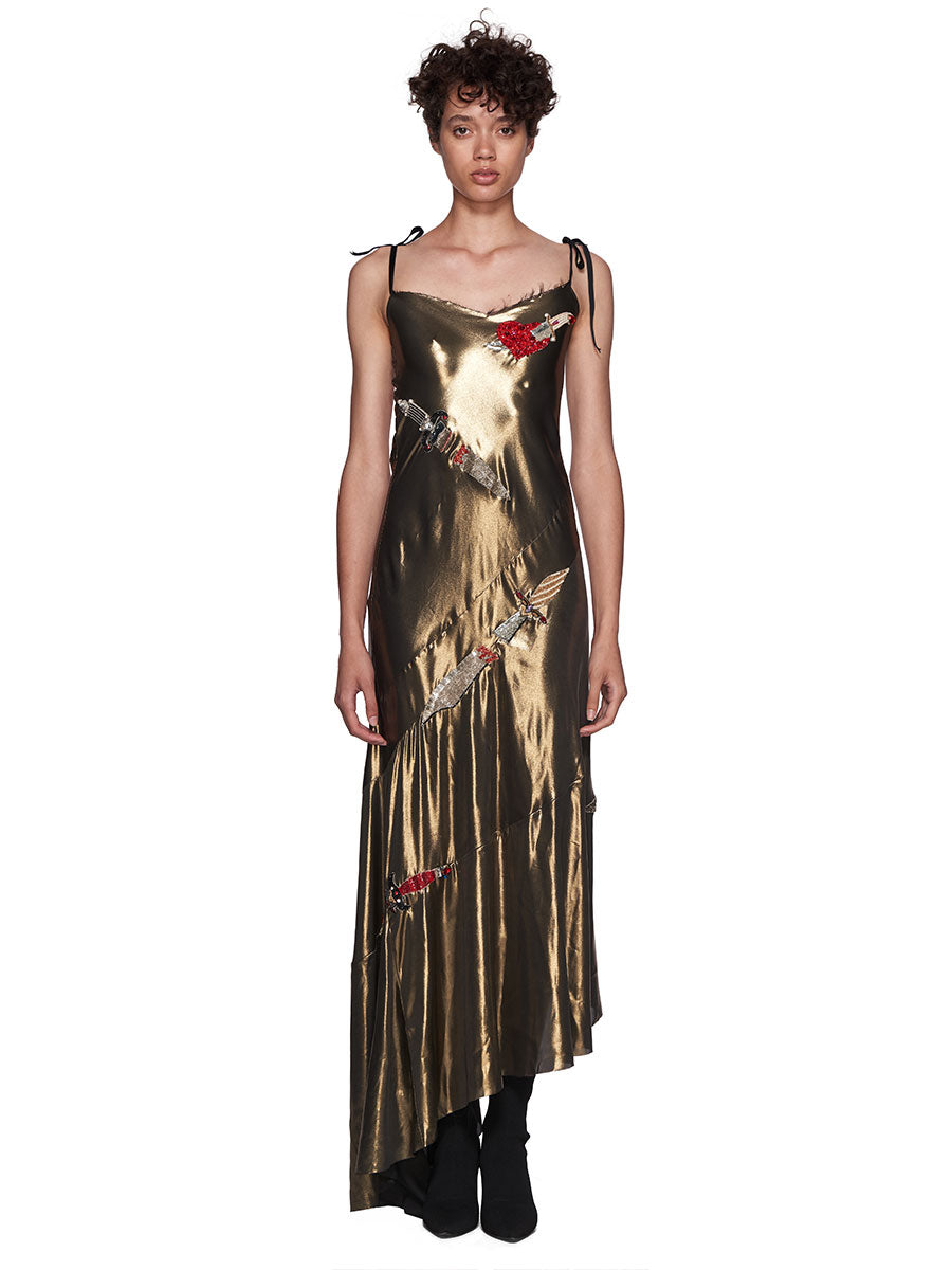 Dilara Findikoglu Gold Dagger Dress - 1