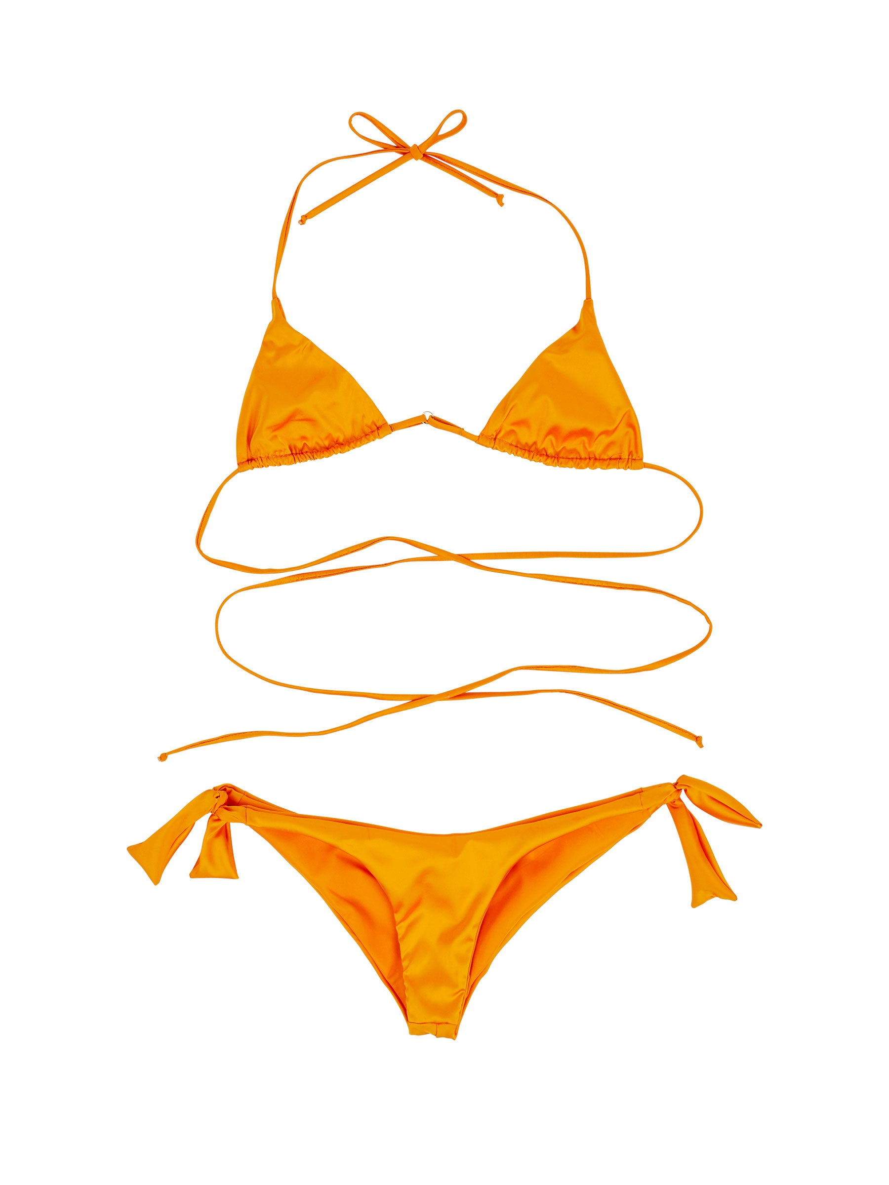 odd92 Fantabody Orange Satin String Bikini Spring/Summer 2019 Womenswear - 1