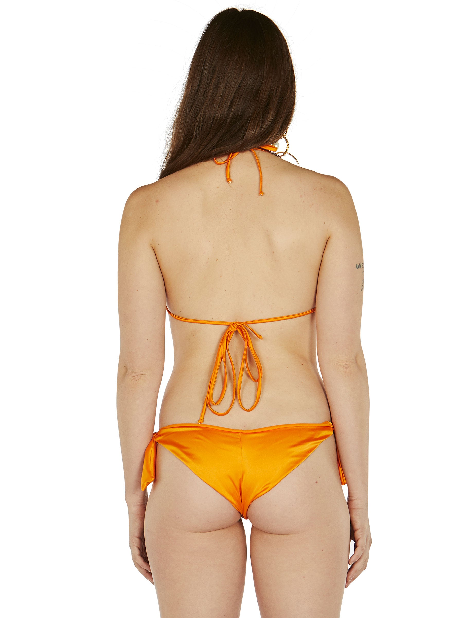 odd92 Fantabody Orange Satin String Bikini Spring/Summer 2019 Womenswear - 4