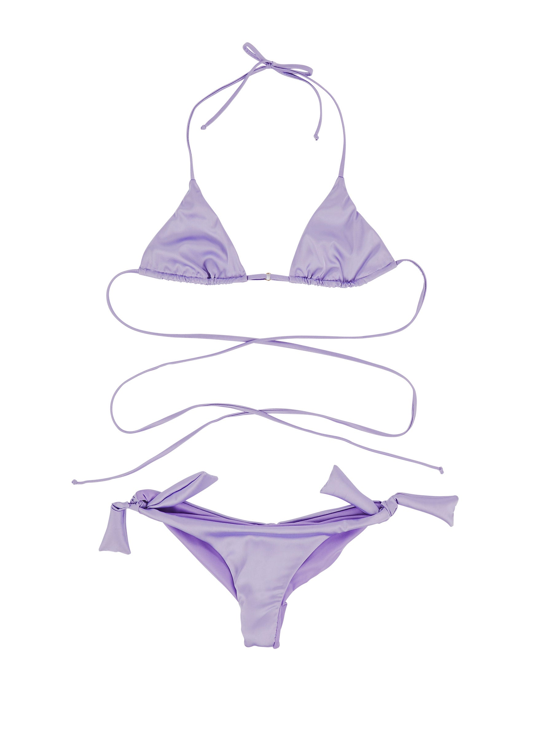 odd92 Fantabody Lilac Satin String Bikini Spring/Summer 2019 Womenswear - 1