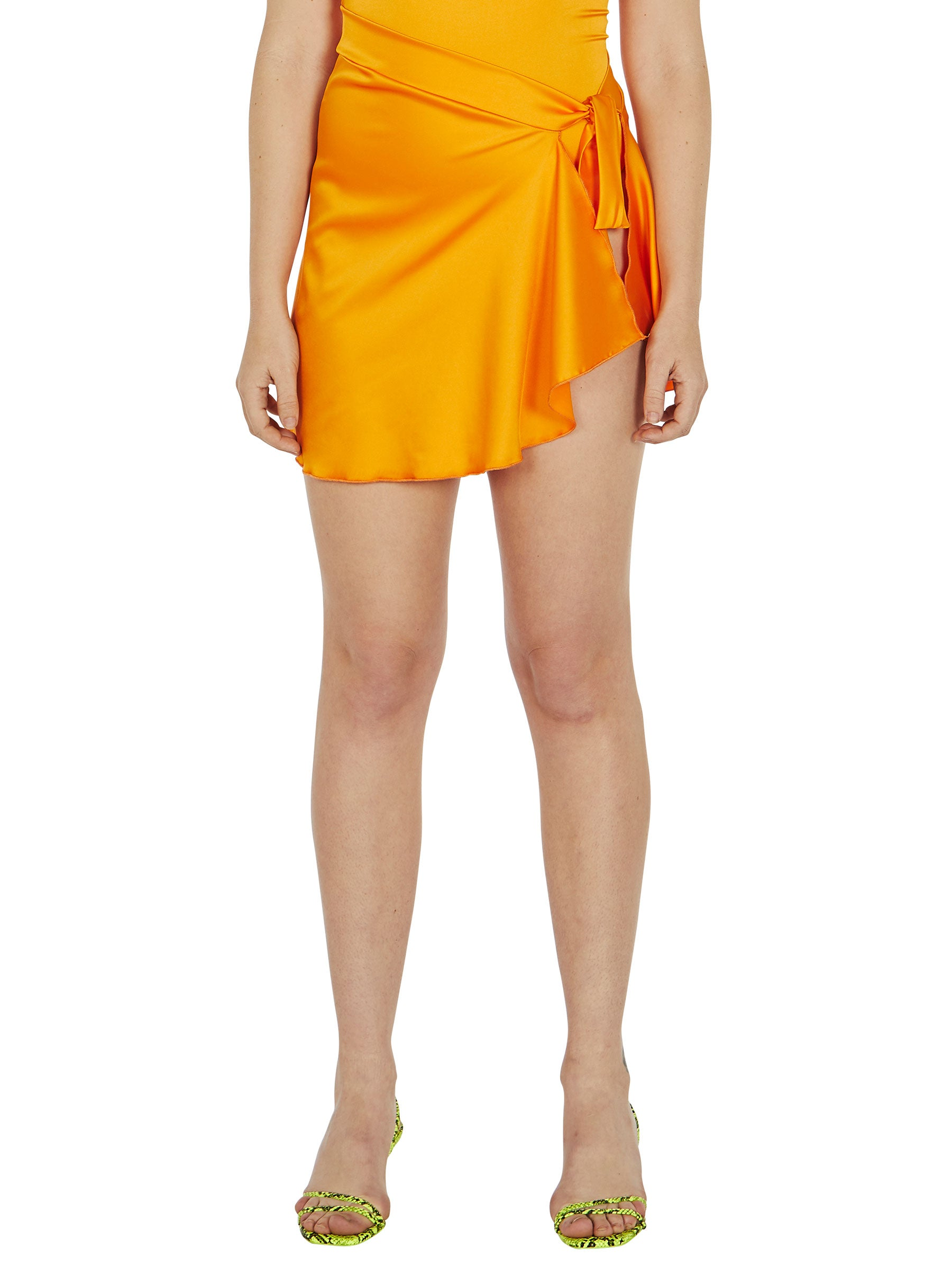 odd92 Fantabody Orange Satin Sarong Spring/Summer 2019 Womenswear - 3