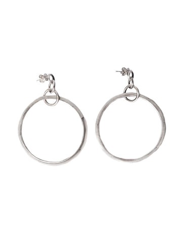 Carved Hoop Earrings