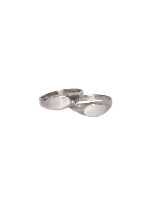 HENSON  Oval Signet Ring Set - 1