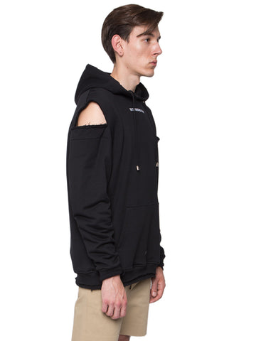 Cut-Out Shoulders Hoodie