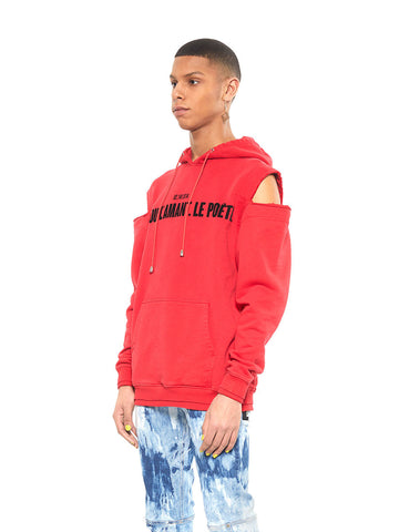 Shoulder Cut-Out Hoodie