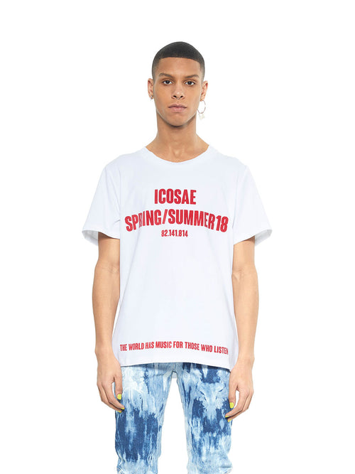 Icosae SS18 white cotton collection t-shirt - 1
