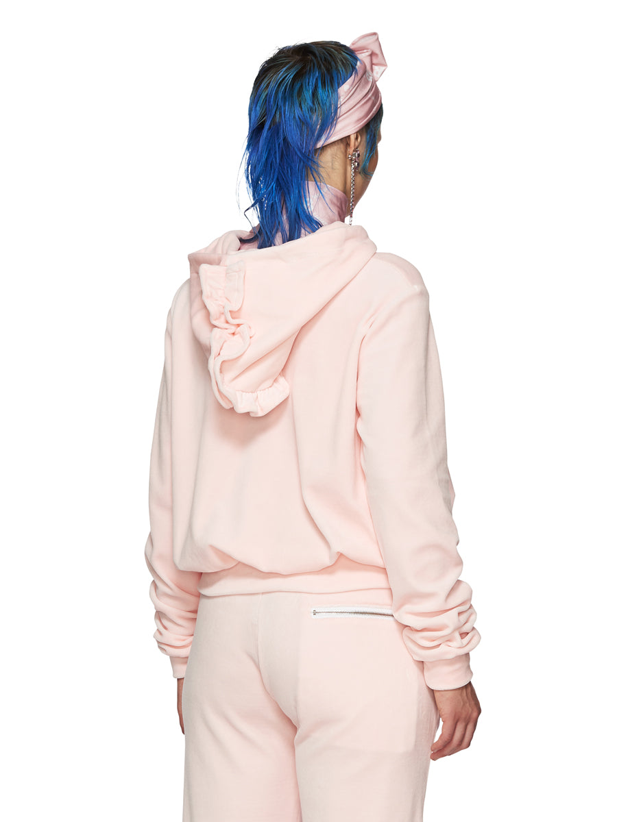 Barbara Bologna Pink Velvet Punk Hoodie odd92 exclusive - 5