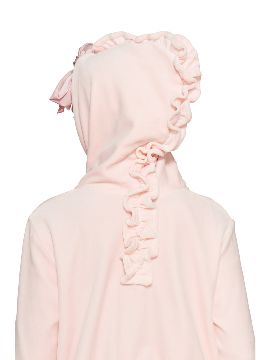 Barbara Bologna Pink Velvet Punk Hoodie odd92 exclusive - 3