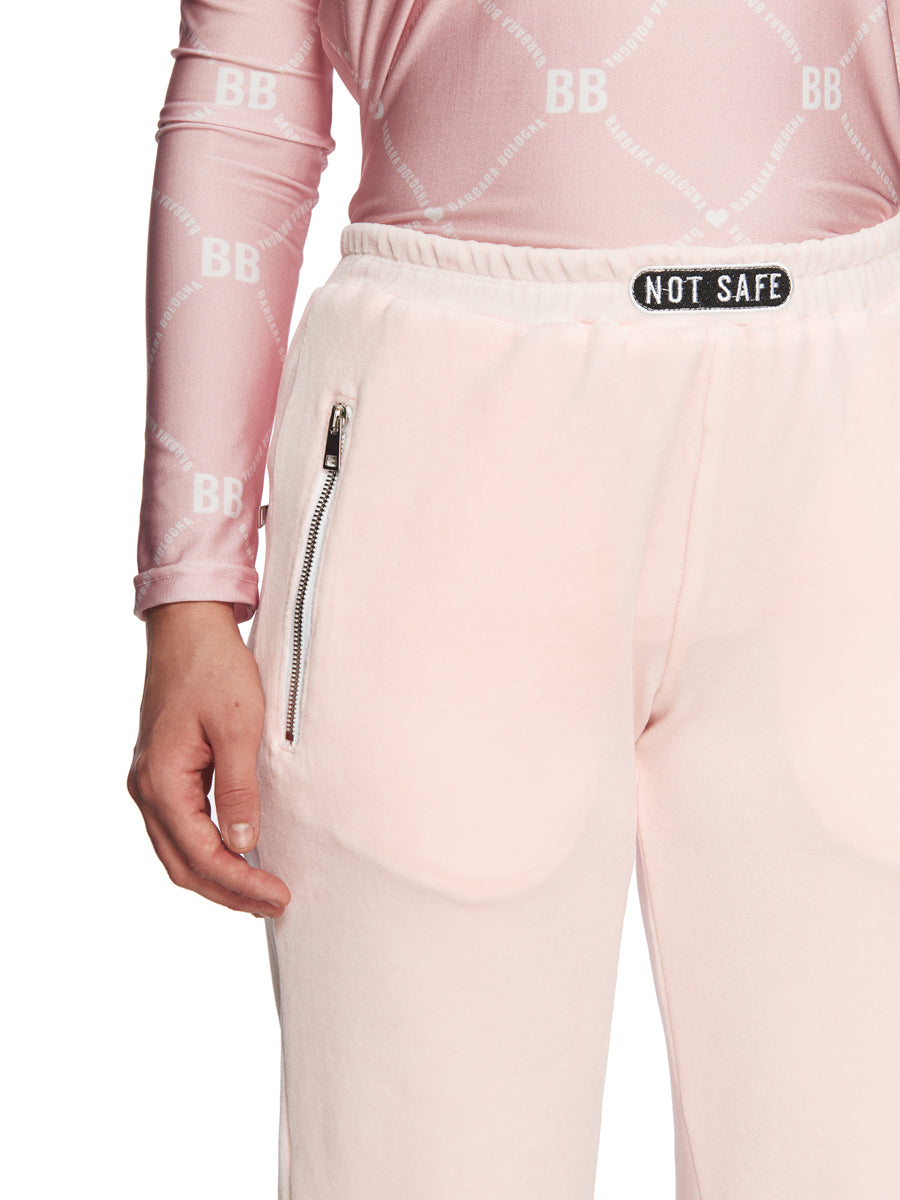Barbara Bologna Pink Velvet Joggers odd92 exclusive - 4