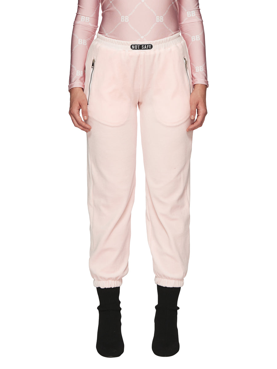 Barbara Bologna Pink Velvet Joggers odd92 exclusive - 1
