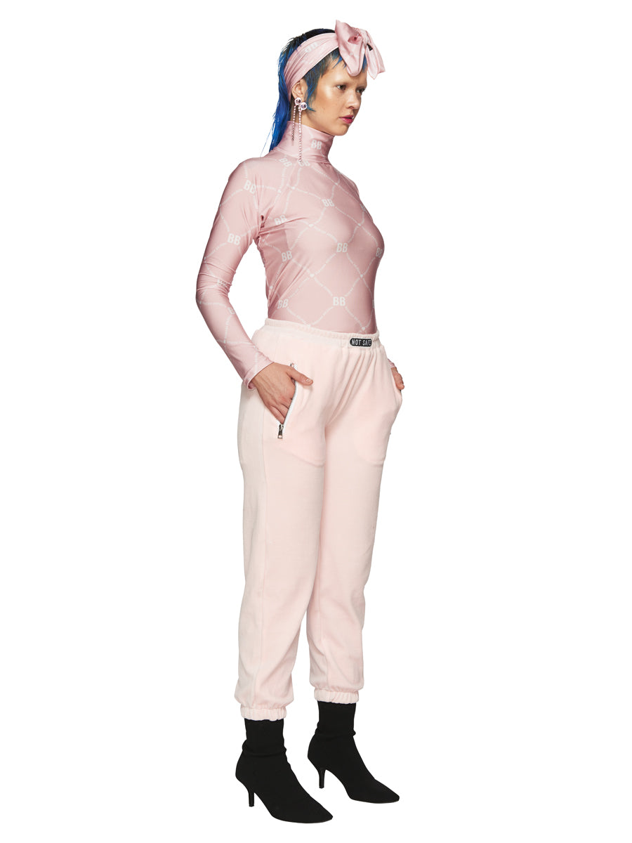 Barbara Bologna Pink Velvet Joggers odd92 exclusive - 5